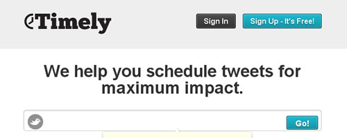 Timely - Schedule Tweets for Maximum Impact