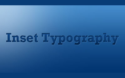How to Create Inset Typography in Photoshop