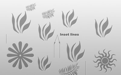 Quick tip: Inset shapes, lines and text