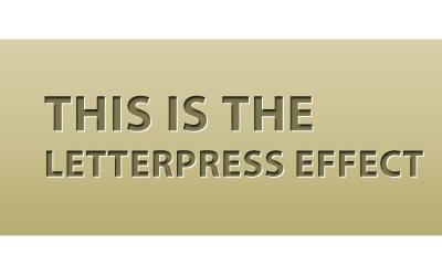 Letterpress tutorials using Photoshop or CSS plus Letterpress
