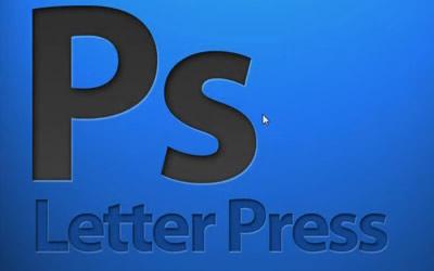 Ps Letterpress emboss text effect