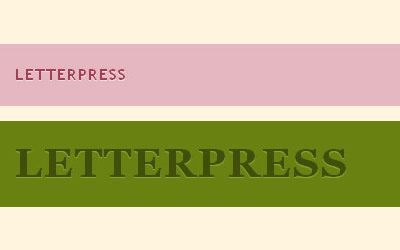Create letterpressed type using only CSS