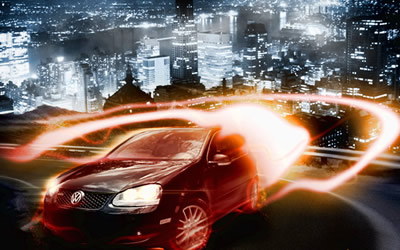 Create a Dramatic Car Speeding Scene