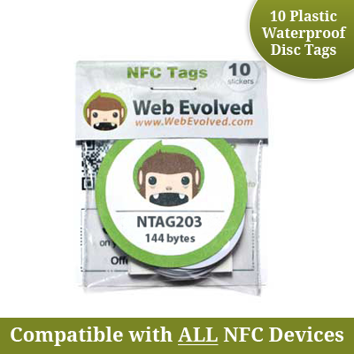 NXP NTAG203 NFC Disc Tags with Adhesive Backing