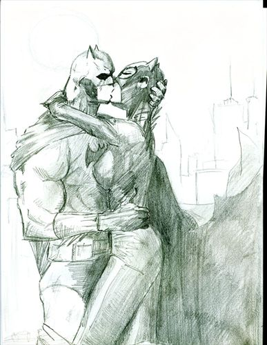 Batman and Catwoman by jynx65