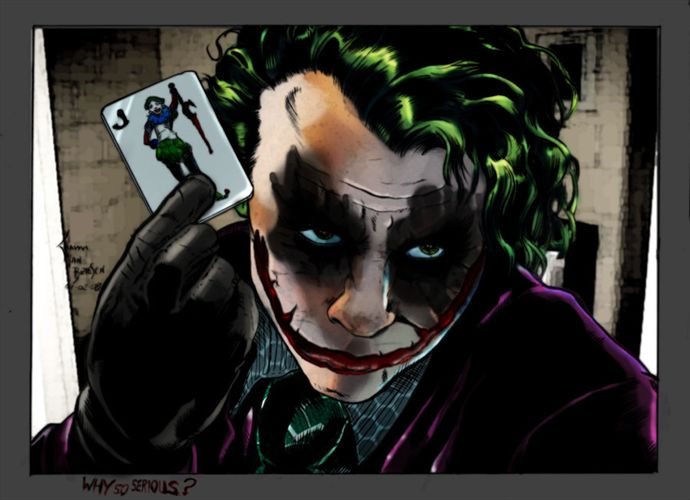 Joker Here is My card by commanderlewis