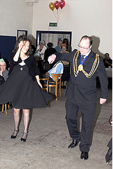 mayor and liz dancing