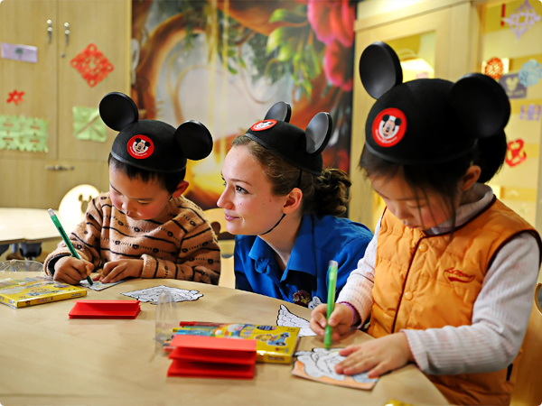 Disney English teacher and students