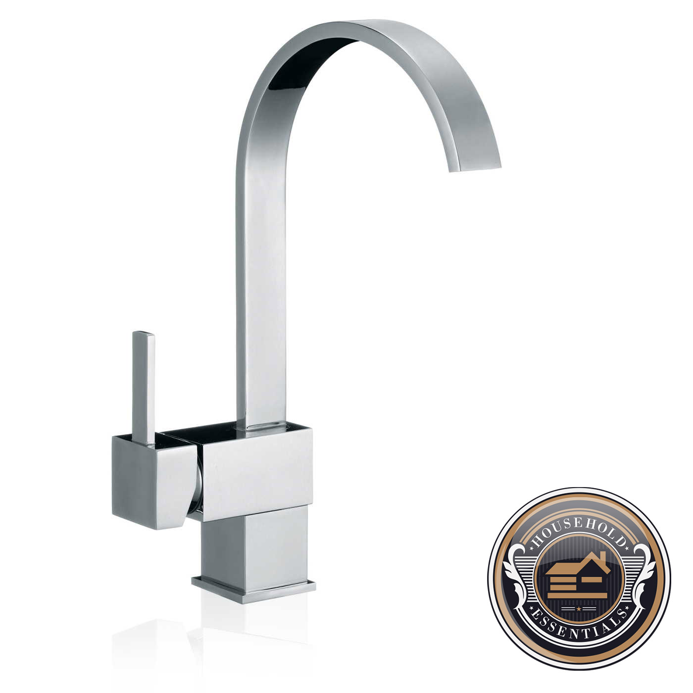 "Contemporary Kitchen Sink Faucets: 13"" Modern Kitchen Bathroom Sink Faucet One Hole Handle"