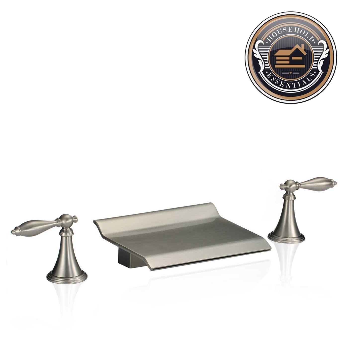 4 Tall Widespread Bathroom Sink Roman Tub Waterfall
