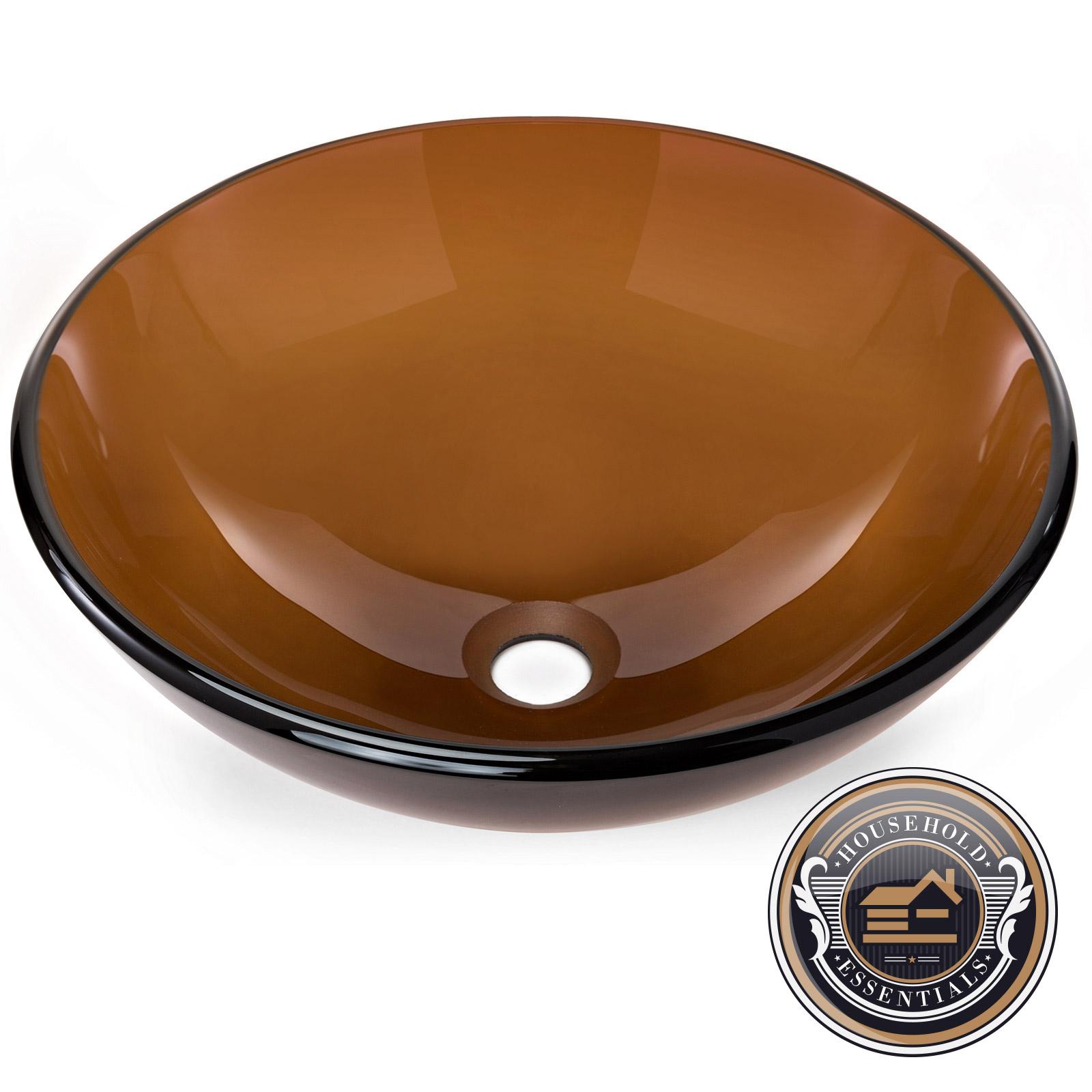 Bathroom Sinks Ebay tempered glass round vessel vanity bathroom sink | ebay