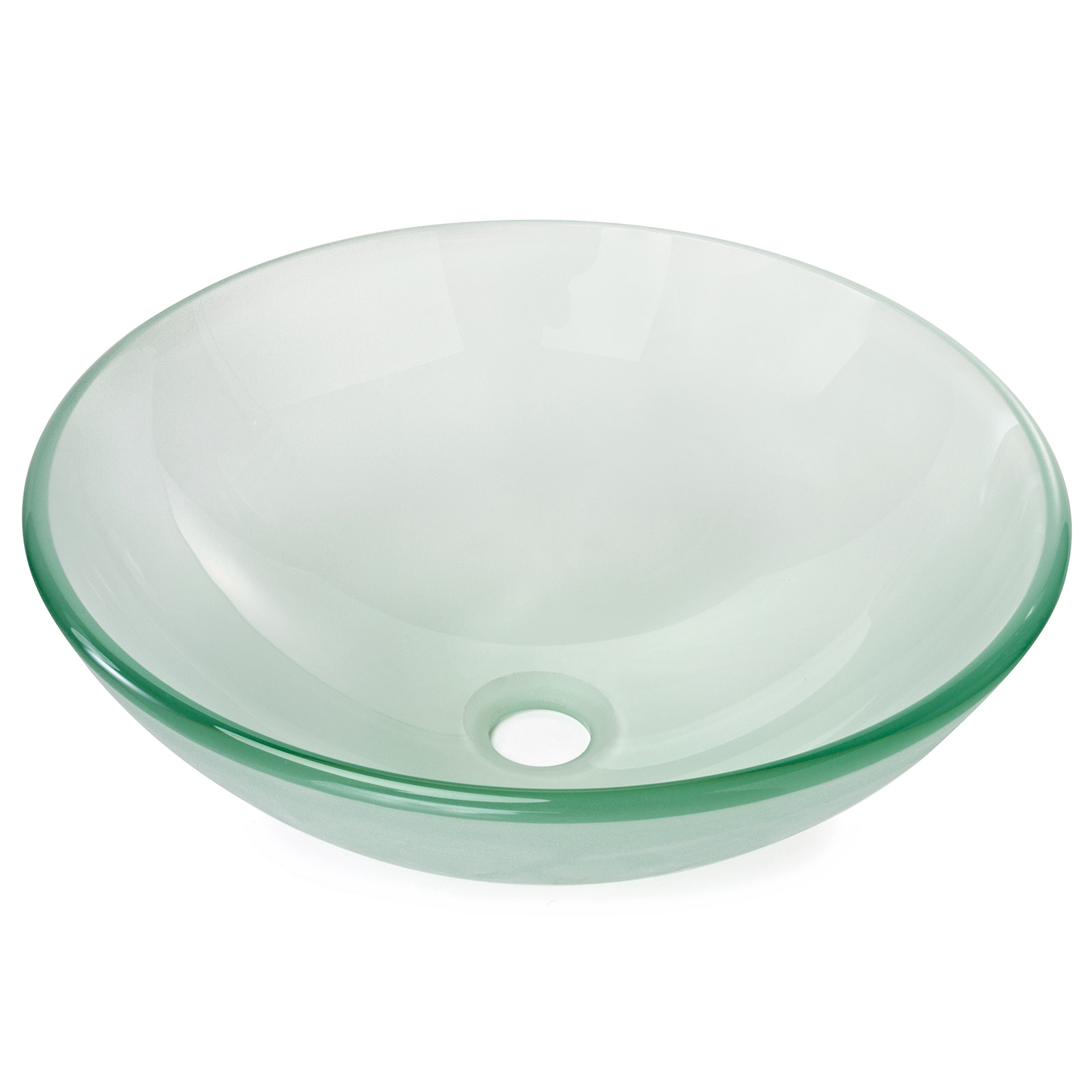 Details about Frosted Glass Round Bathroom Vessel Sink