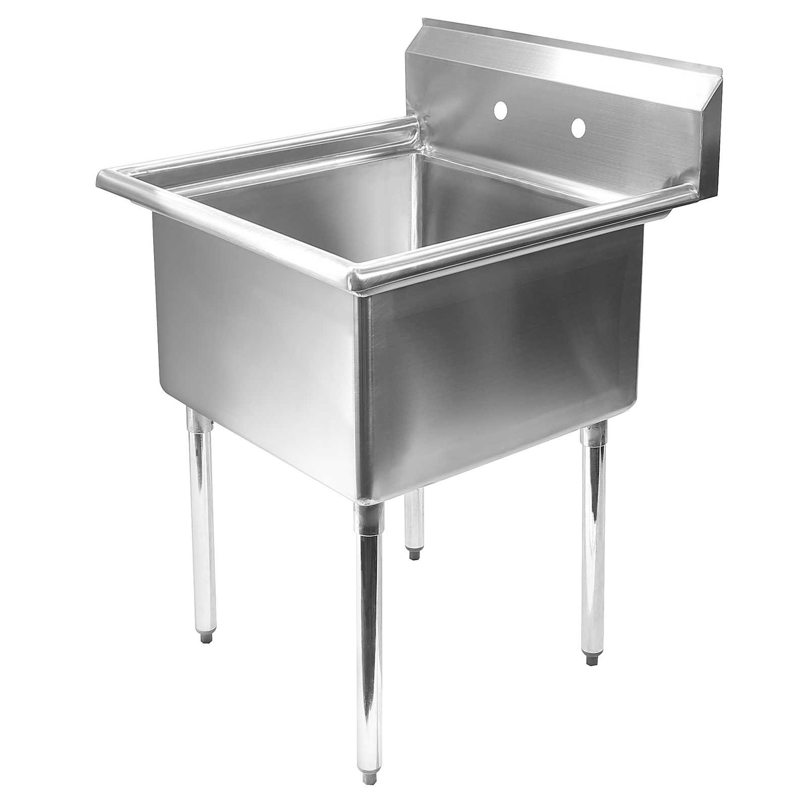 stainless steel commercial kitchen utility sink 30 wide ebay. Black Bedroom Furniture Sets. Home Design Ideas