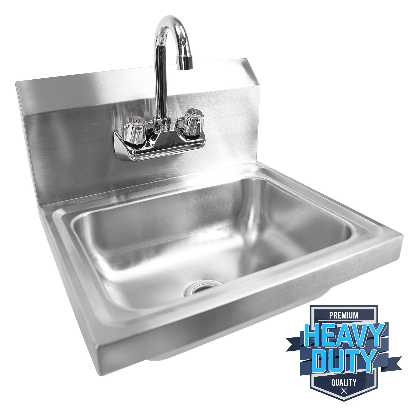 Commercial Stainless Steel Hand Wash Washing Wall Mount Sink Kitchen ...
