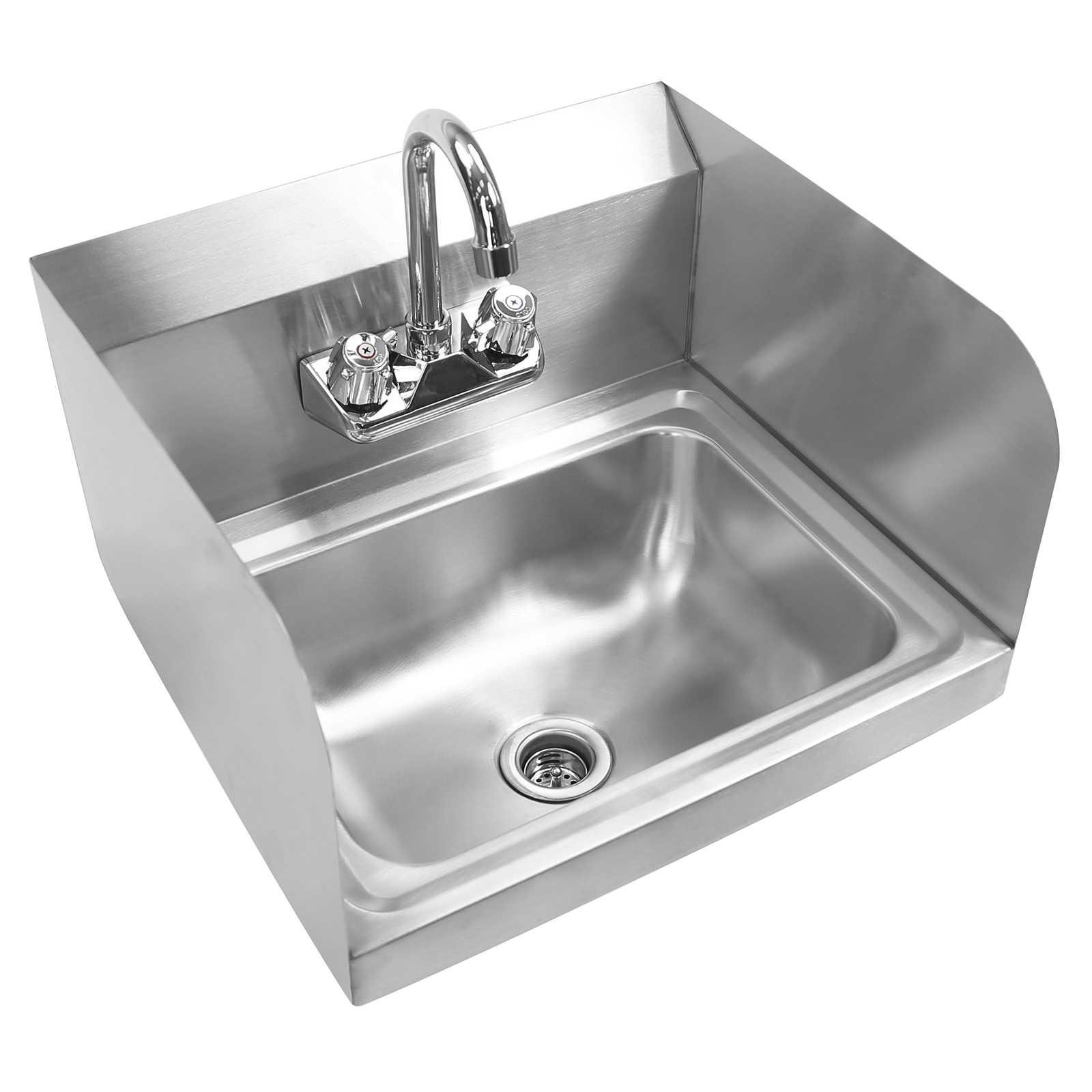Commercial Stainless Steel Wall Mount Hand Wash Washing Sink Kitchen ...