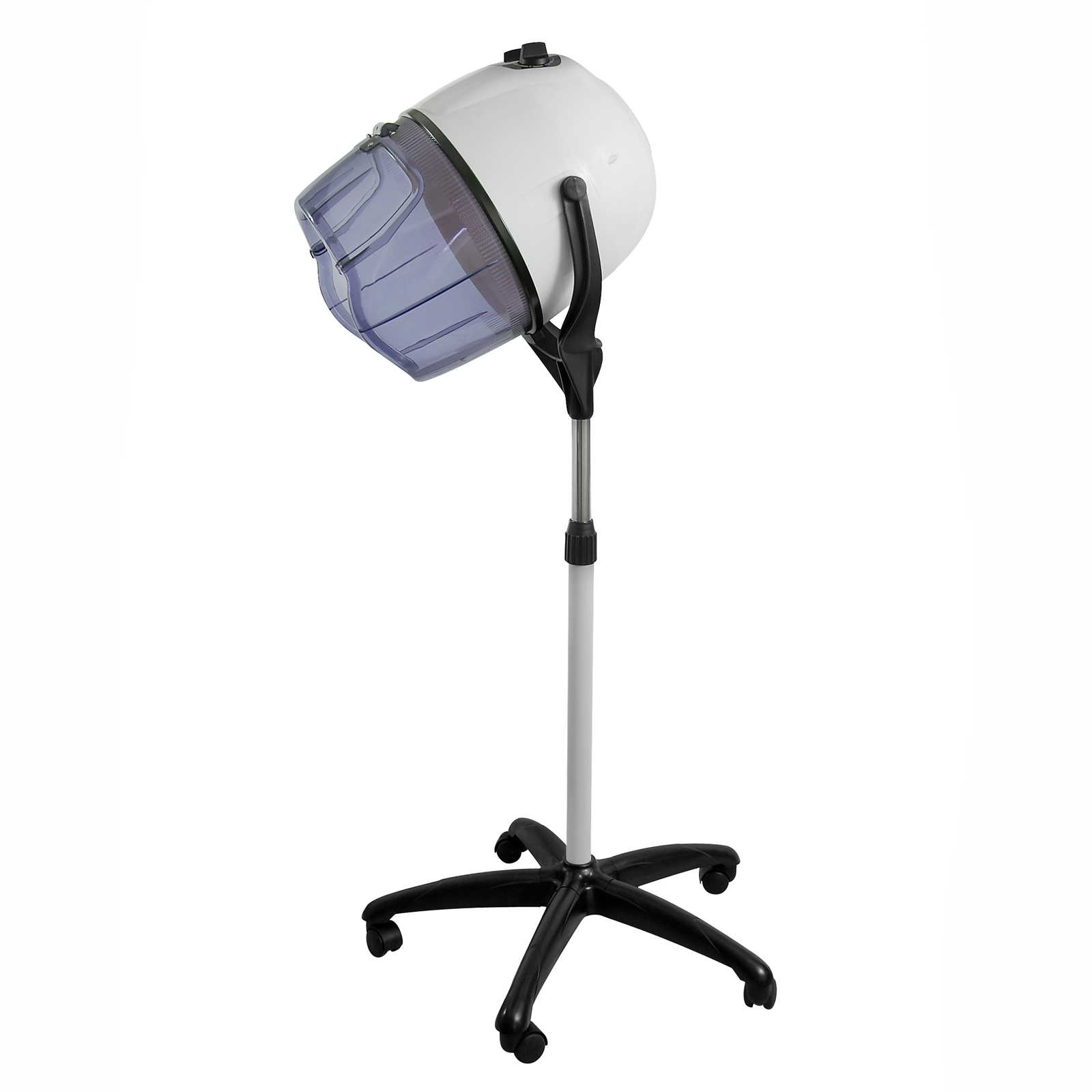 Salon chair hooded bonnet hair dryer standing rolling stand up floor hood ebay - Salon chair with hair dryer ...
