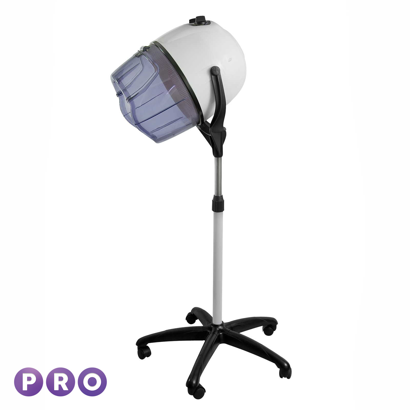 Professional Hair Steamer Rolling Stand Beauty Salon Color: Professional Rolling Hair Dryer Floor Standing Bonnet Hood
