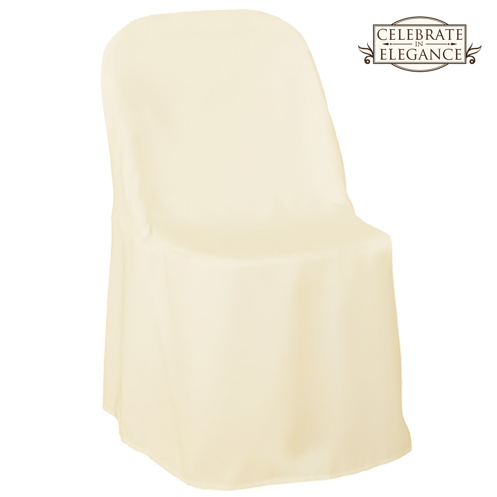 10 Polyester Folding Chair Covers Wedding Party Décor