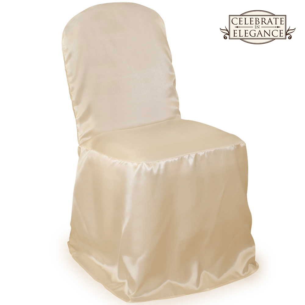10 Satin Banquet Chair Covers Wedding Party Décor