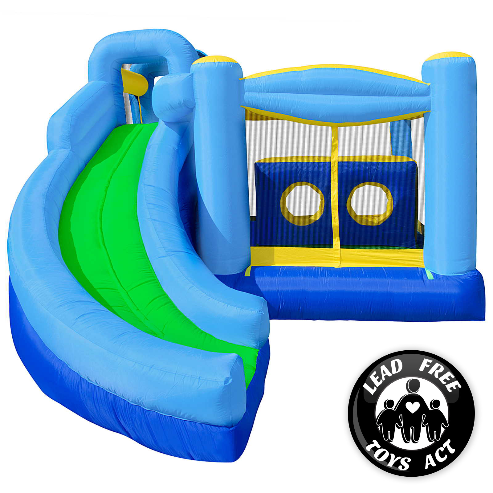 Bounce House Blower : Quad combo bounce house jumper castle bouncer inflatable