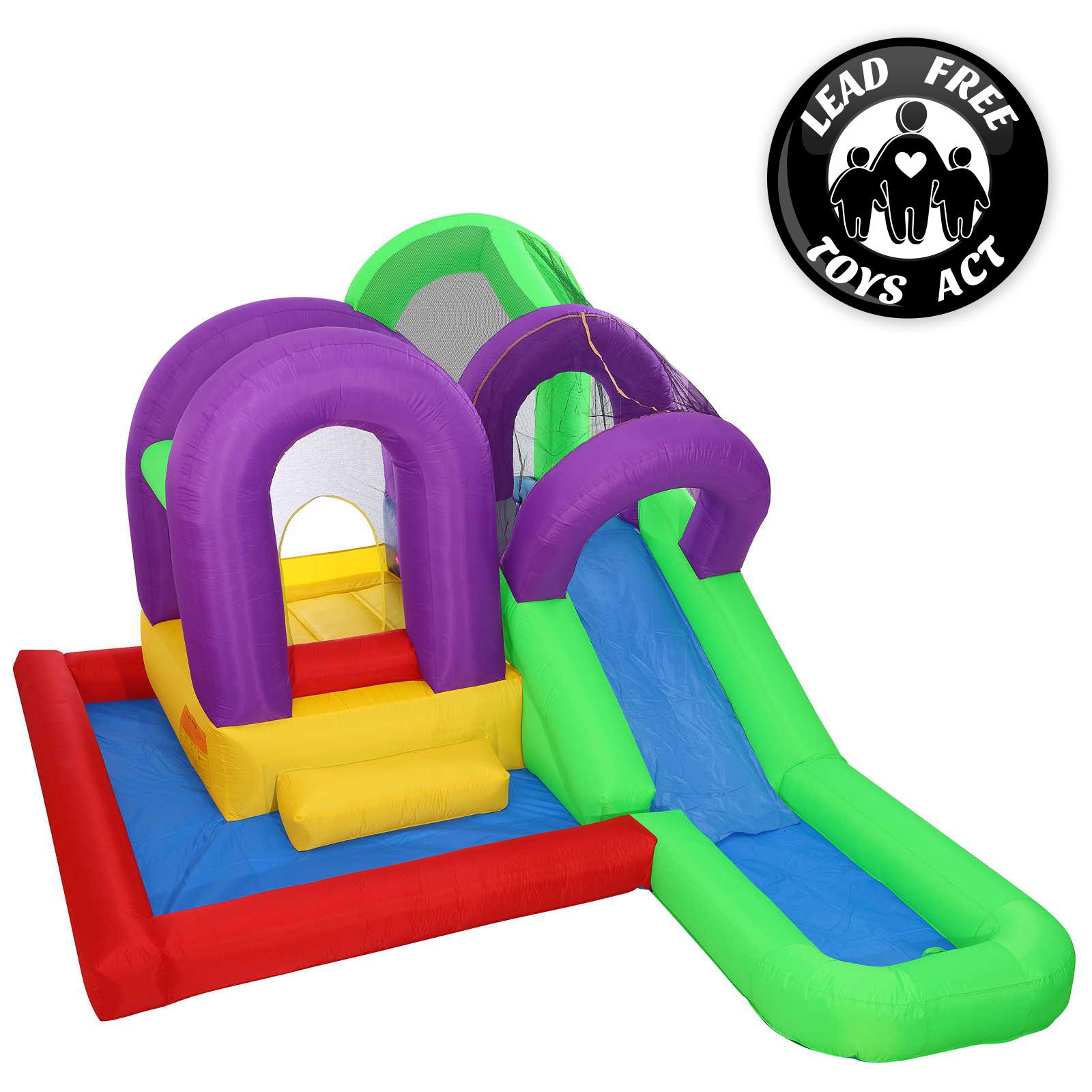 Inflatable Slide Blower: Water Slide Bounce House Wet Slide Jumper Bouncer