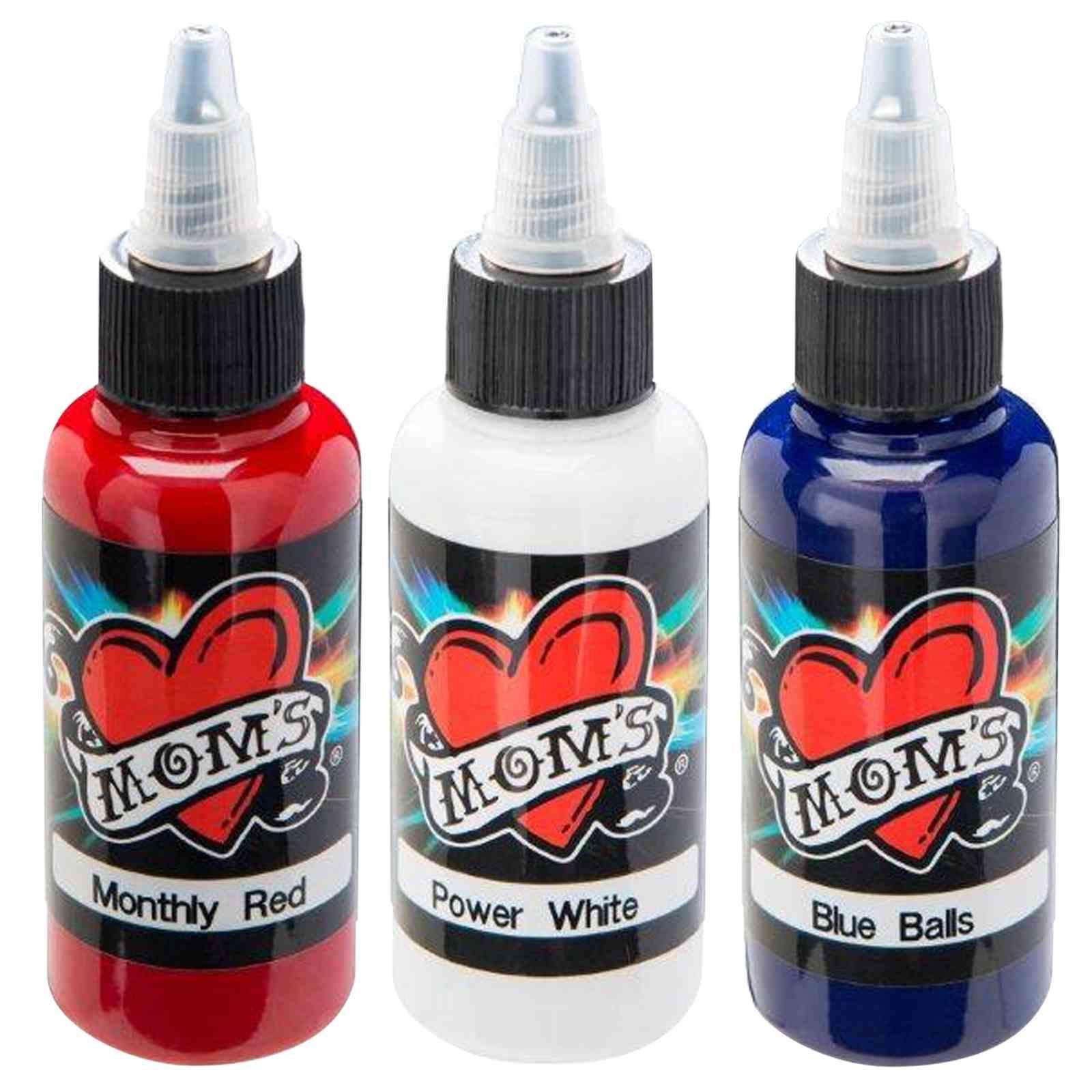 Moms millennium tattoo ink set red white blue 1 2 oz for Millennium colorworks tattoo ink