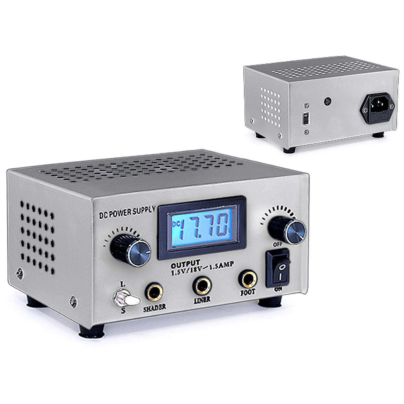 Digital Power Supply : Tattoo digital lcd dual power supply foot pedal switch and