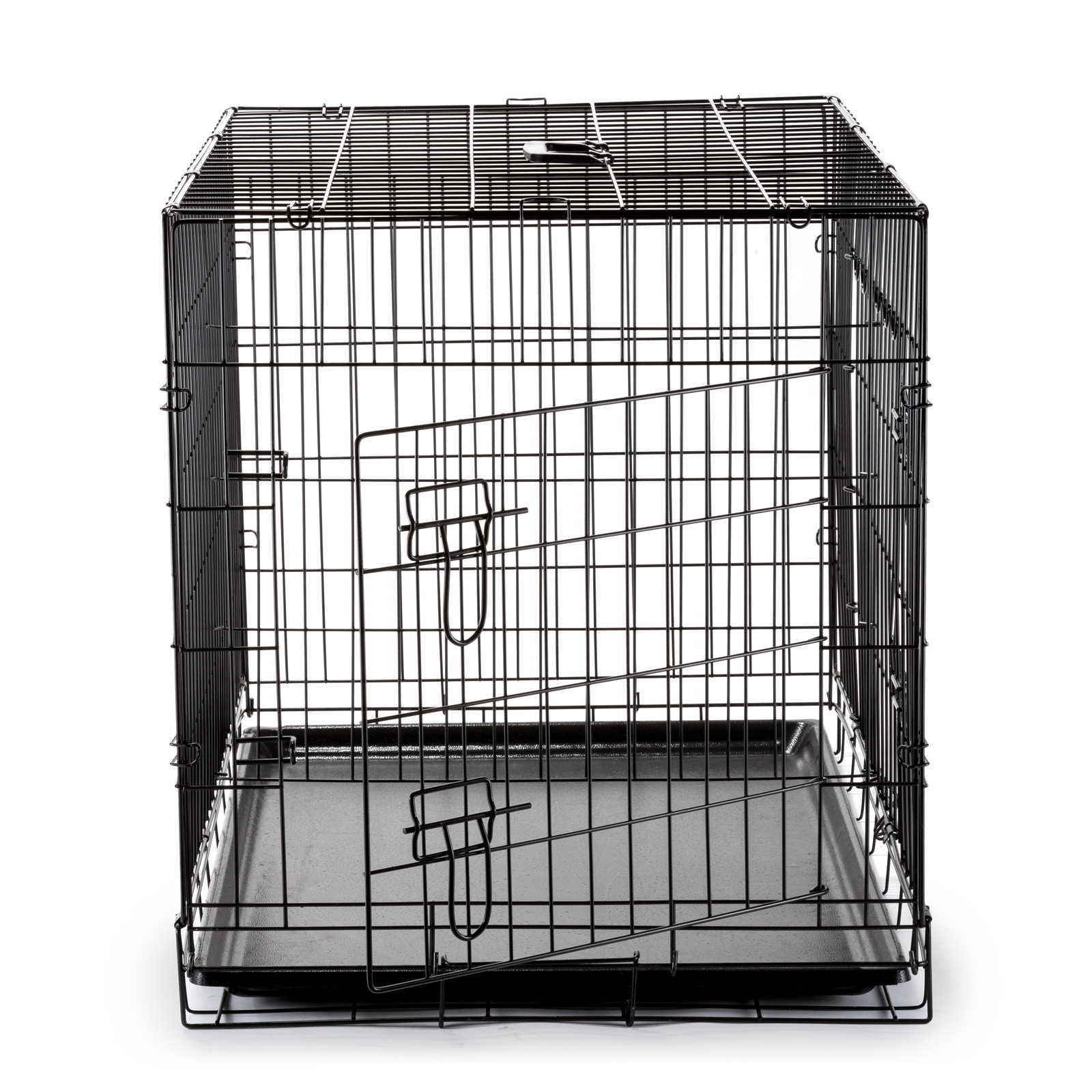 36quot dog cage crate folding kennel with divider pet puppy for 36 inch dog crate with divider