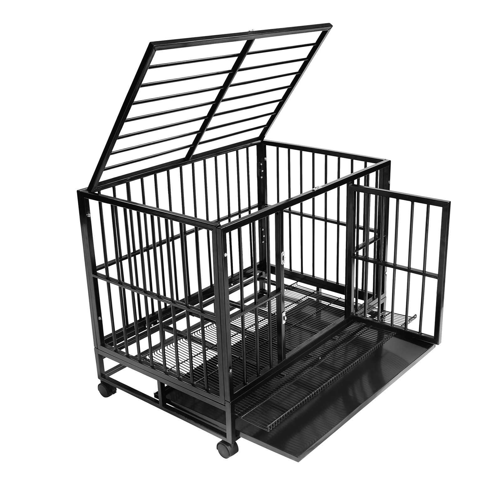 Heavy Duty House : Heavy duty rolling dog cage crate kennel house with metal