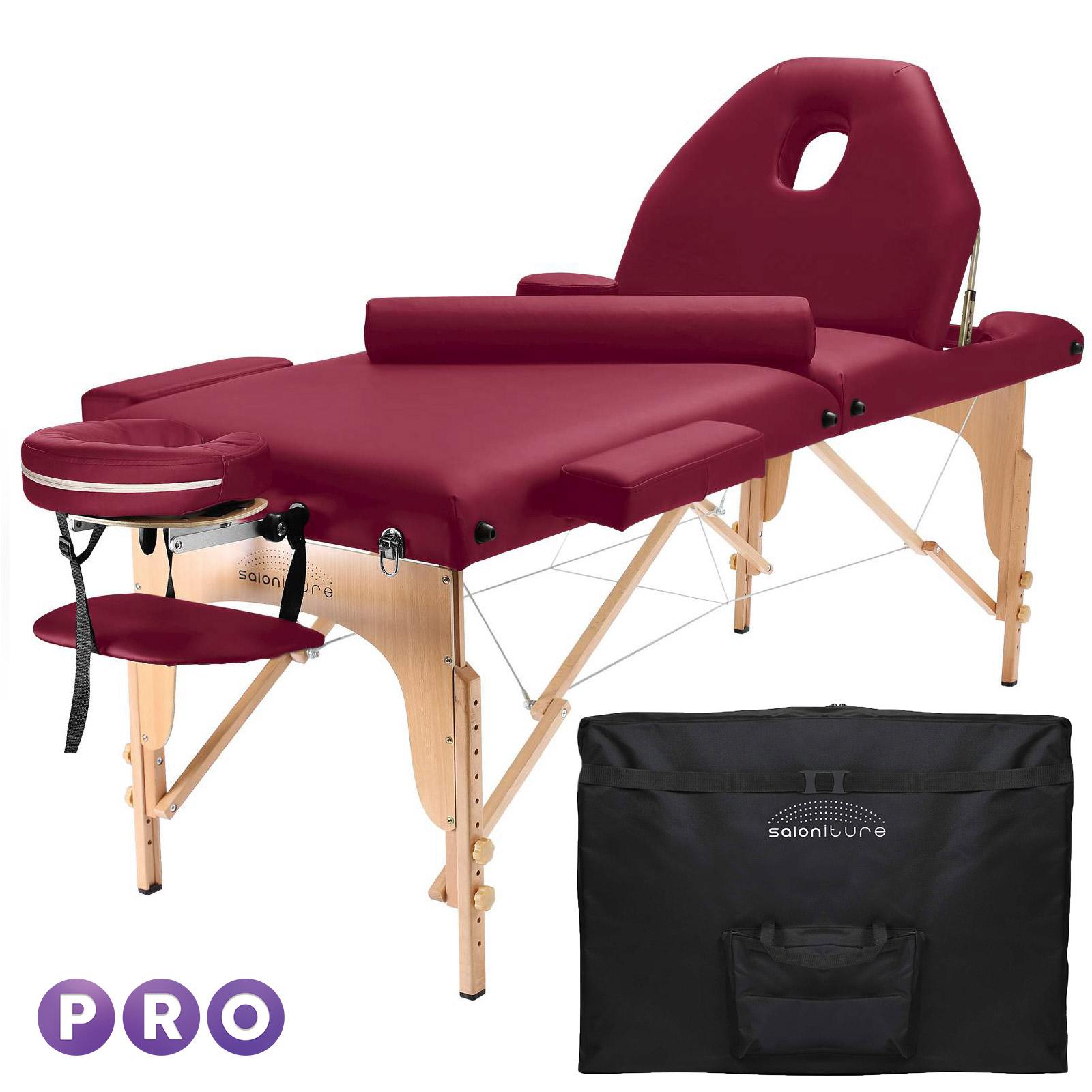 Portable Massage Table With Bolster And Tilt Backrest Ebay