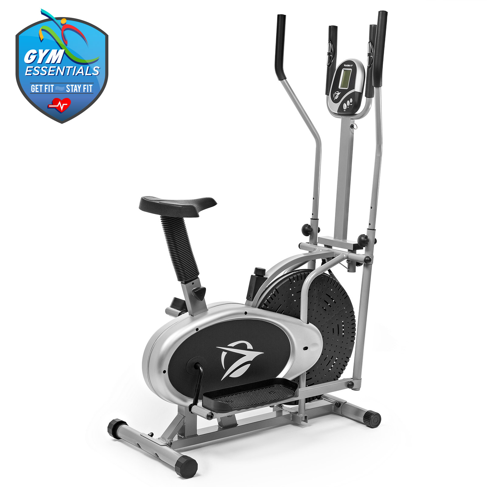 Elliptical machine trainer in exercise bike total