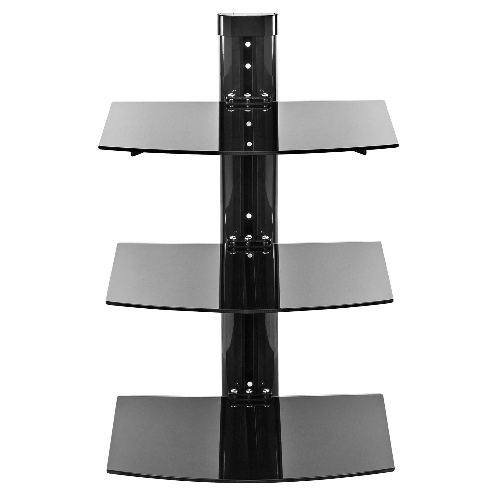 3 shelf floating wall mount dvd tv component av console. Black Bedroom Furniture Sets. Home Design Ideas
