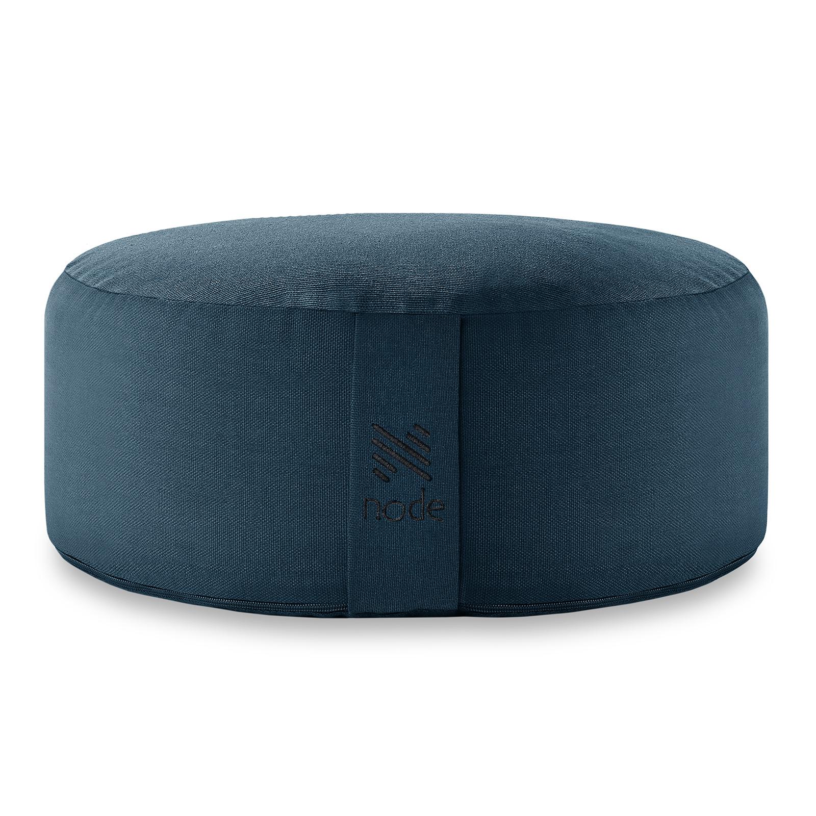 """14/"""" Round Organic Cotton Buckwheat Hull Zafu Meditation Cushion Pillow"""