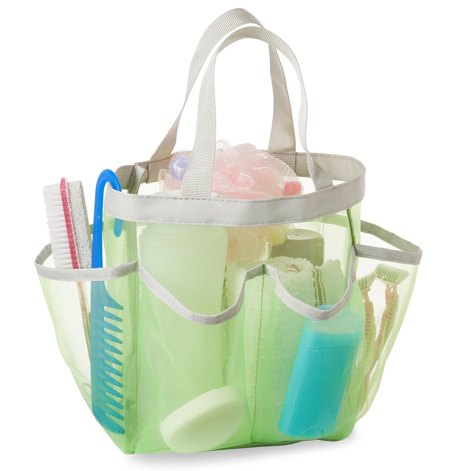 Portable Mesh Shower Caddy Tote Bathroom Hanging Toiletry Organizer Storage Bag