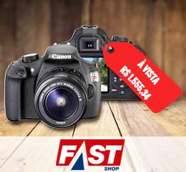 Câmera Canon por R$ 1.555.34, à vista!