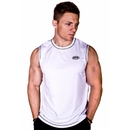 Buff Body Men's Sleeveless Tee, Large, White