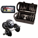 Cap Barbell 40 Lb Adjustable Dumbbell Set With Case, Free Shipping!, Black