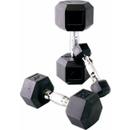 Cap Barbell Rubber Hex Dumbbell Set, 5-25 Lbs, Free Shipping!