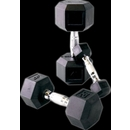 Cap Barbell Rubber Hex Dumbbell Set, 5-30 Lbs.