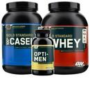 5 lb. Whey, 2 lb. Casein, & 30 Servings Essential AmiN.O. Energy  - Optimum Men's Performance Stack w/ Free Opti-Men