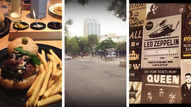 Burger joint ⇨ Garden ⇨ Bar