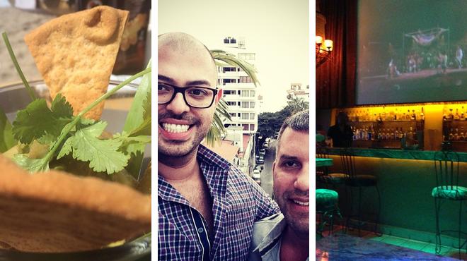 Beach ⇨ Italian restaurant ⇨ Gay bar