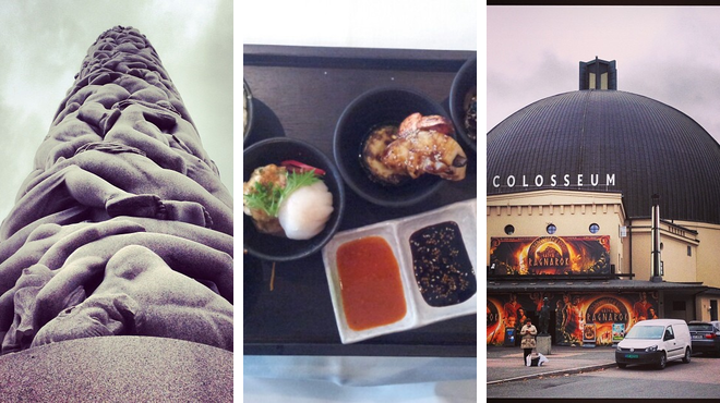 Park ⇨ Asian restaurant ⇨ Catch a movie