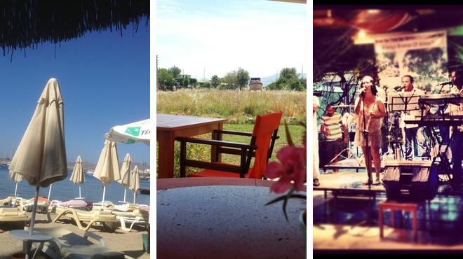 Beach ⇨ Mediterranean restaurant ⇨ Delicious Cocktails