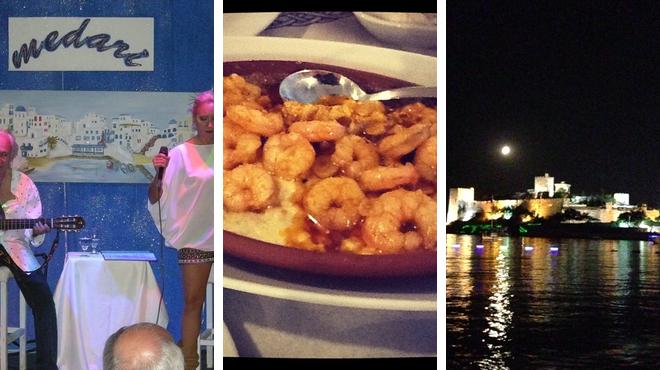 Music venue ⇨ Seafood restaurant ⇨ Pub