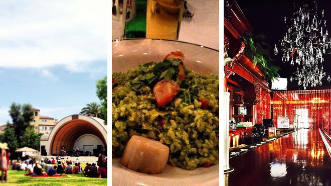 Music venue ⇨ Mediterranean restaurant ⇨ Bar