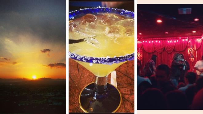 Park ⇨ Mexican restaurant ⇨ Rock club