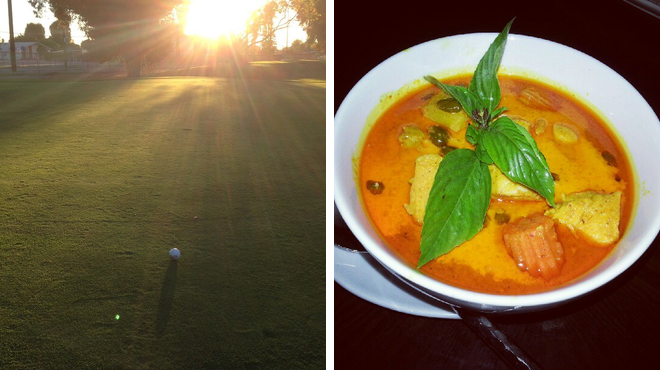 Golf course ⇨ Thai restaurant