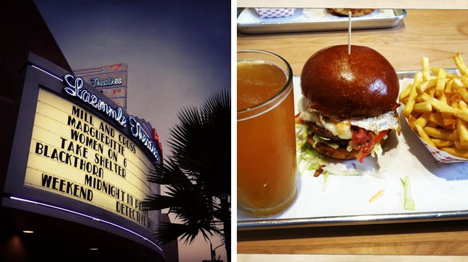 Catch a movie ⇨ Burger joint