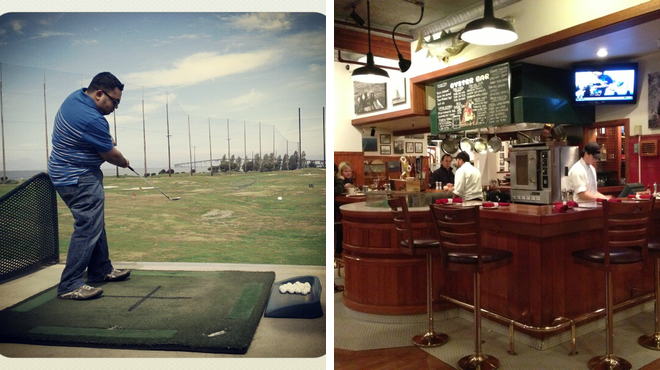 Golf course ⇨ Seafood restaurant